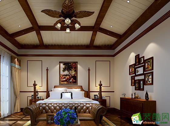 长沙品匠装饰-水岸新都中式三居室装修效果图