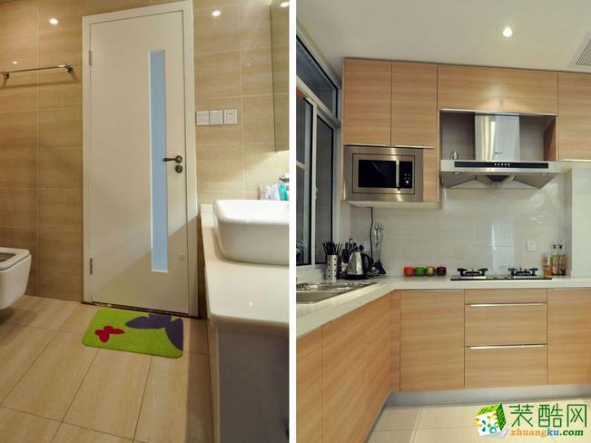 鞍山良工装饰-现代简约两居室装修效果图