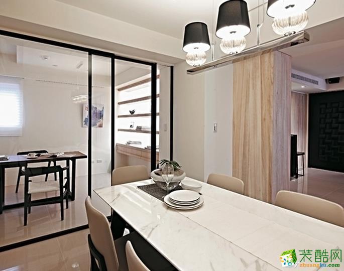 鞍山良工装饰-现代简约三居室装修效果图