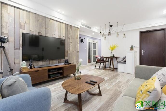 【成都大筑装饰】北欧风格91平米三居室装修案例