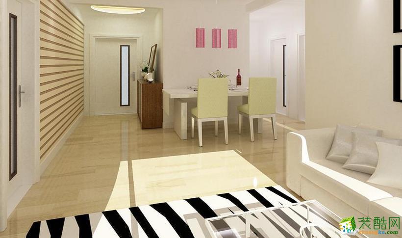 鞍山雨轩装饰-现代两居室装修效果图
