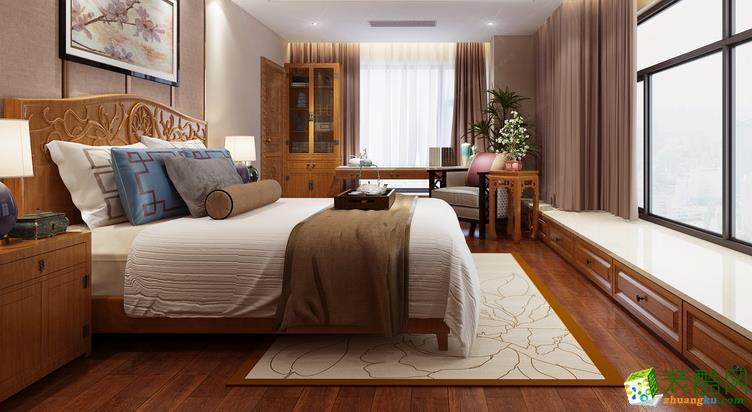 鞍山龙发装饰-中式三居室装修效果图