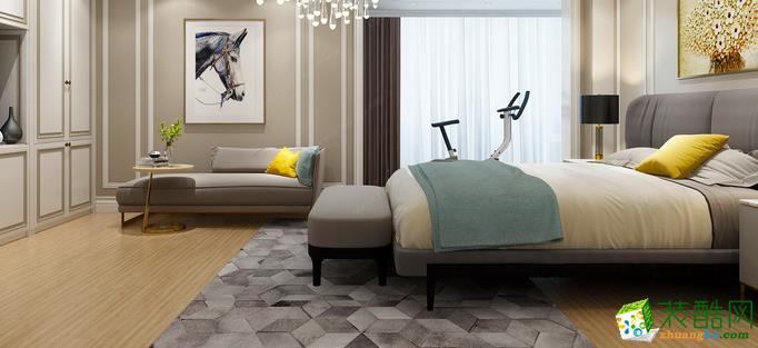 鞍山龙发装饰-美式三居室装修效果图
