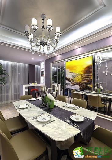鞍山精诚尚品装饰-现代简约两居室装修效果图