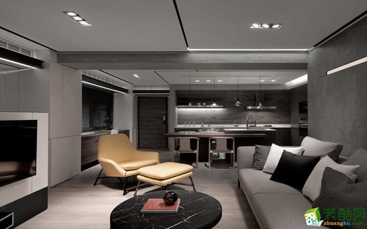 【欧居尚装饰】95平米两室两厅一卫现代简约风格