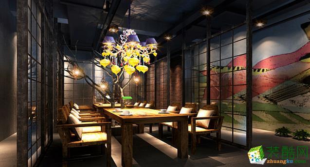 长沙喜乐地装饰-邛崃咖啡厅装修效果图