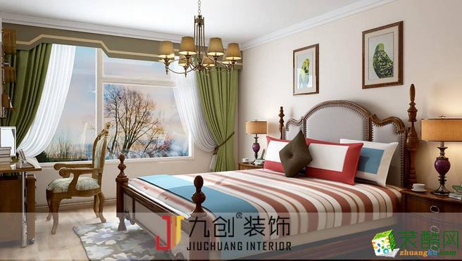 济南九创装饰-美式风格两居室装修效果图