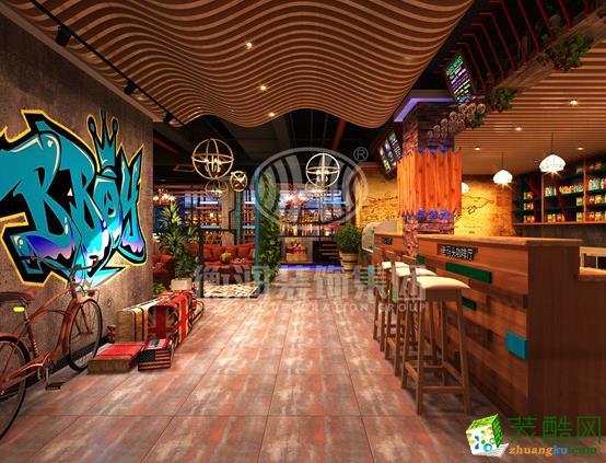 长沙衡润章鱼直播间章鱼直播app官网-老码头咖啡厅装修效果图
