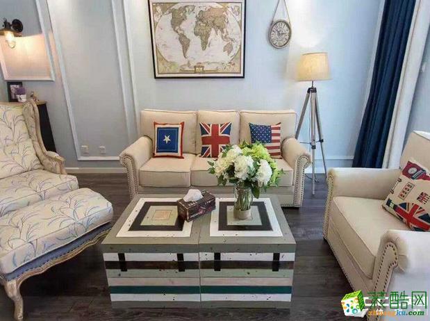 长沙实创家居装饰-克拉美丽山庄简欧三居室装修效果图