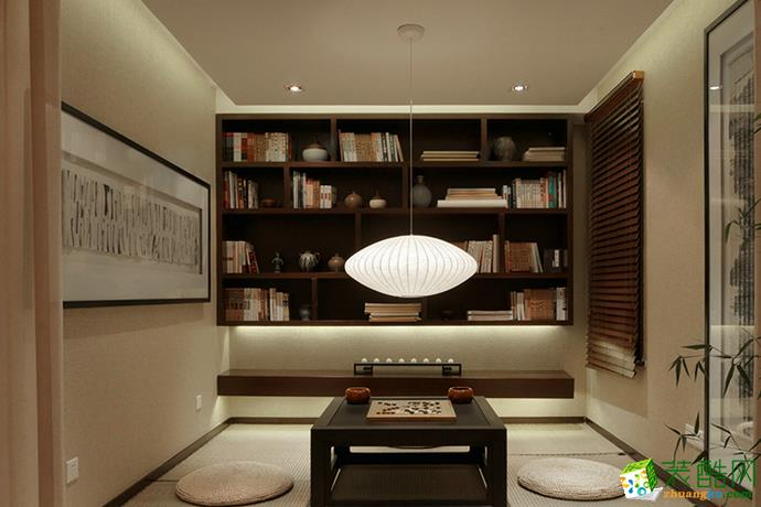 长沙淘家装饰-新中式三居室装修效果图