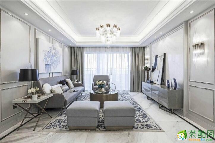 【重庆安吉乐装饰】三居室110平米装修案例图