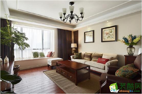 【成都易美家居装饰】121平米简美风格三居室装修案例图