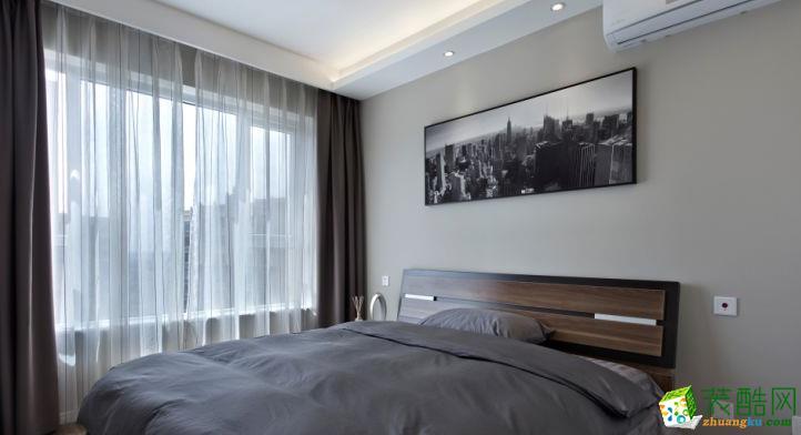 长沙家盟科技-铁建山语城现代三居室装修效果图