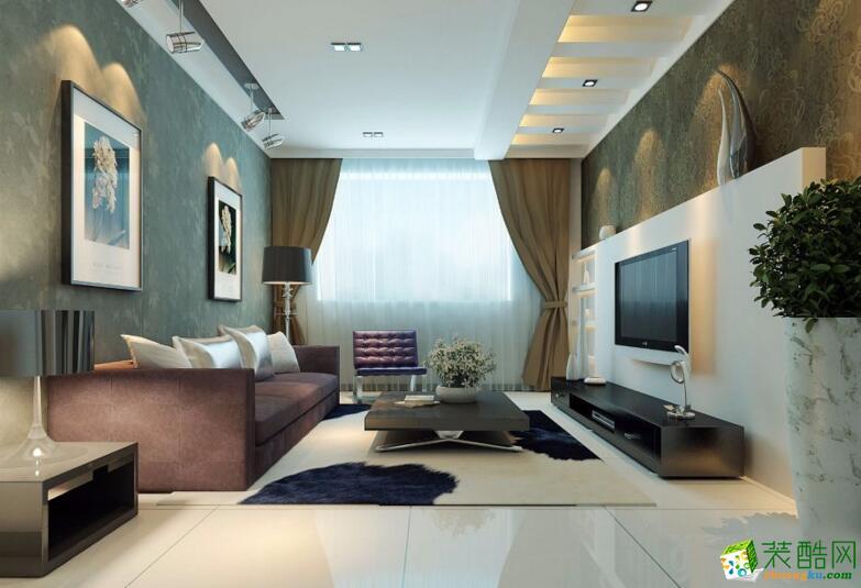 【重庆佳林国际装饰】104平米简约风格三居室装修案例