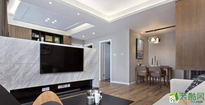 长沙家盟科技-华润橡树湾现代两居室装修效果图