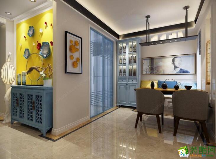 【重庆佳林国际装饰】62平米一居室地中海风格装修案例