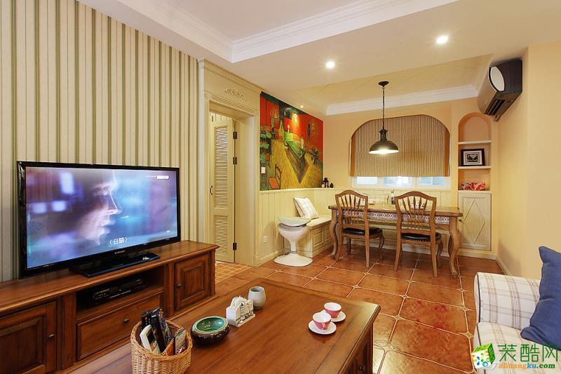 甜美美式3室!沙發后做吧臺+餐廳卡座