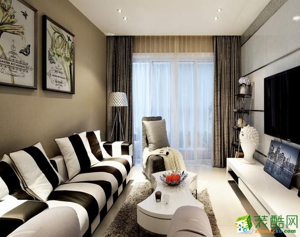 长沙品道装饰-现代简约三居室装修效果图
