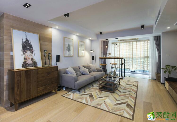 【博凯装饰】130平米三居室现代简约风格装修案例