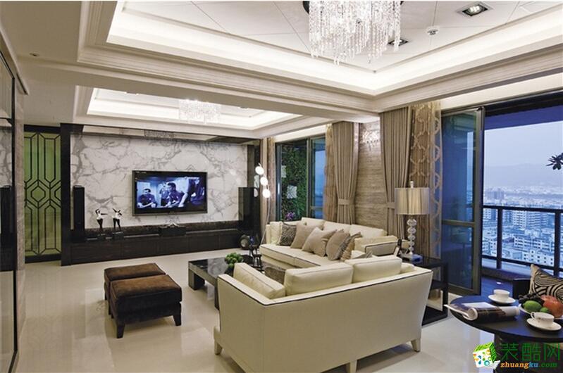 【火龙果装饰】后现代风格118平米三居室装修案例