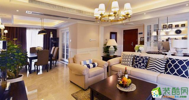 长沙铭品装饰-美式四居室装修效果图