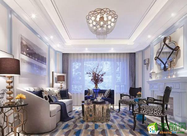 长沙极筑装饰-现代三居室装修效果图