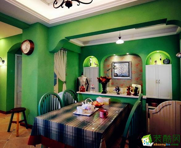 长沙家盟科技-田园两居室装修效果图