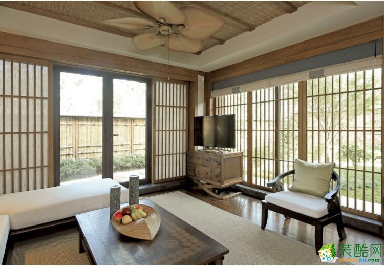 【德本装饰】108平米三居室东南亚风格装修案例