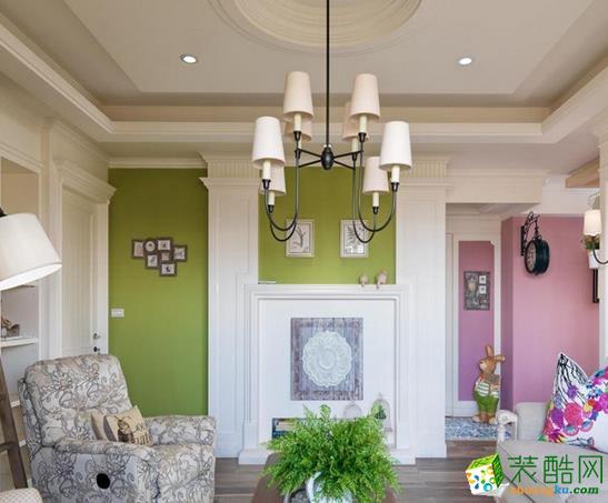 长沙荣欣汇名装饰-美式乡村两居室装修效果图