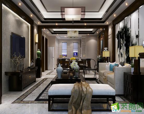 长沙荣欣汇名装饰-新中式两居室装修效果图