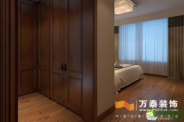济南万泰装饰-新中式三居室装修效果图