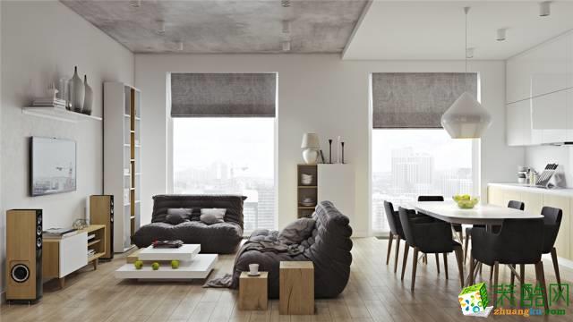 Ⅱ78㎡現代簡約客廳