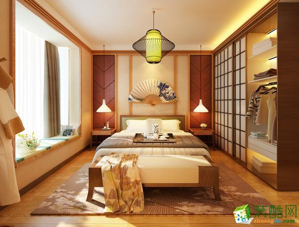长沙峰上大宅-新中式两居室装修效果图