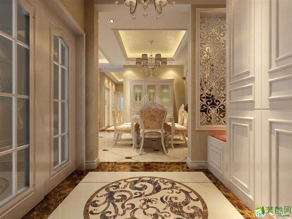 西安一品鼎盛装饰-金地褐石公馆欧式四居室装修效果图