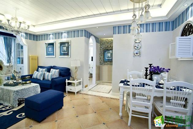 西安兴唐装饰-地中海两居室装修效果图