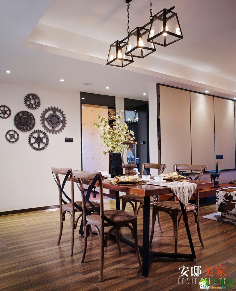 长沙安邸美家装饰-美式三居室装修效果图