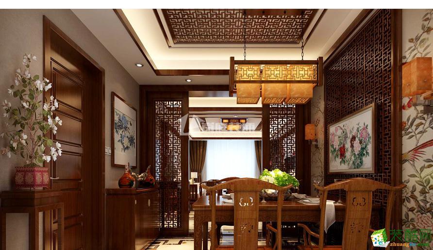 武汉岚庭装饰―金地自在城151�O中式风格装修案例