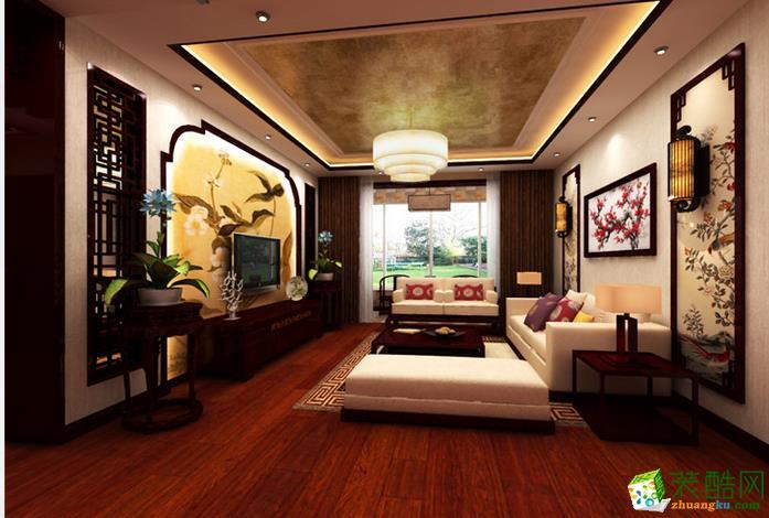 业之峰装饰-120平新中式三居室装修效果图