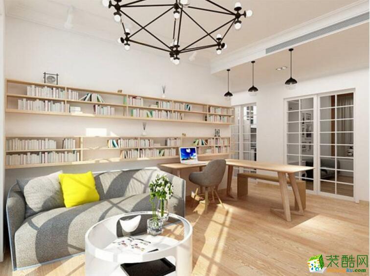【新空间装饰】101平米北欧风格三居室装修案例