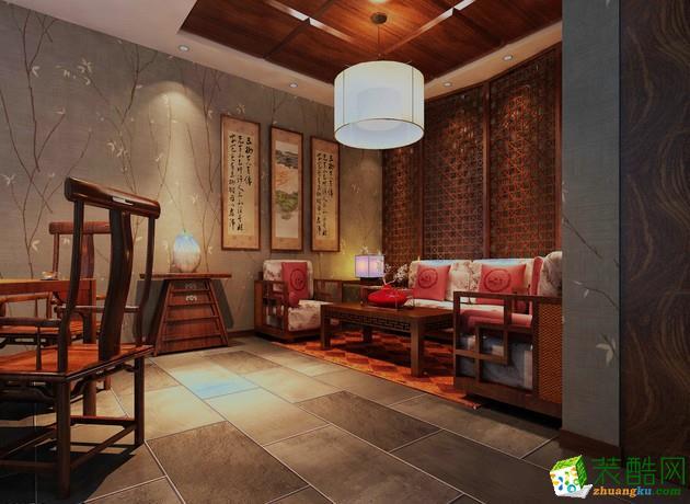 西安快一步装饰-中式三居室装修效果图