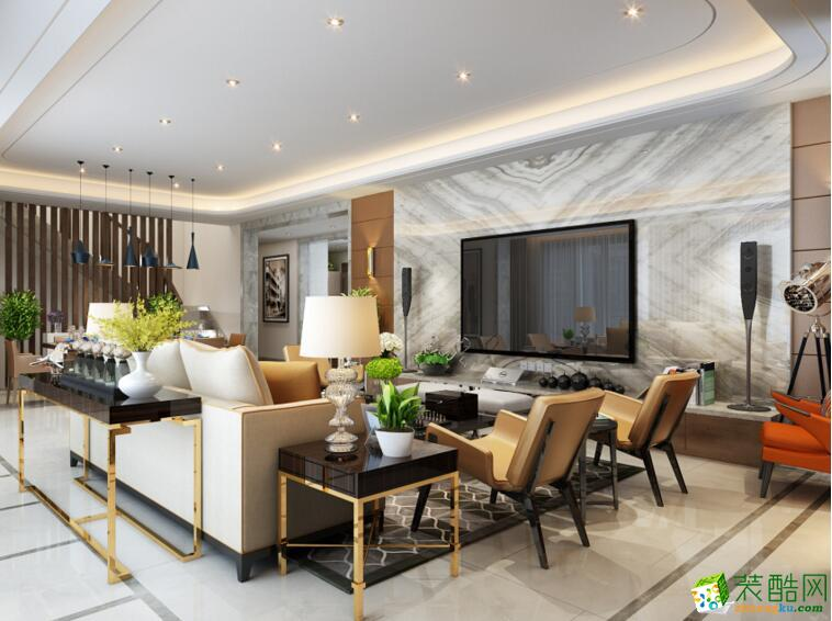 【佳林国际装饰】148平米简约风格别墅住宅装修案例
