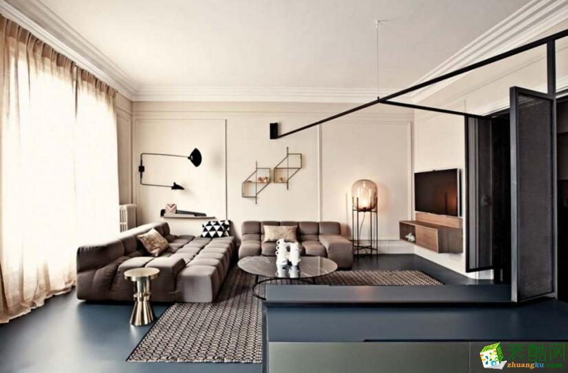 【卓坊装饰】180平米简约公寓装修案例图