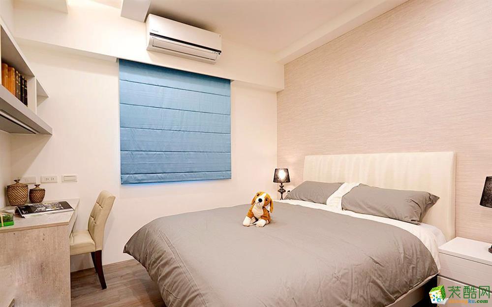 西安甲壳虫装饰-鸿基紫韵现代简约三居室装修效果图