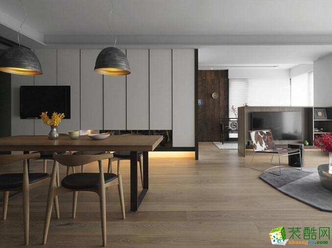【乐居华庭装饰】117平米现代三居室装修案例图