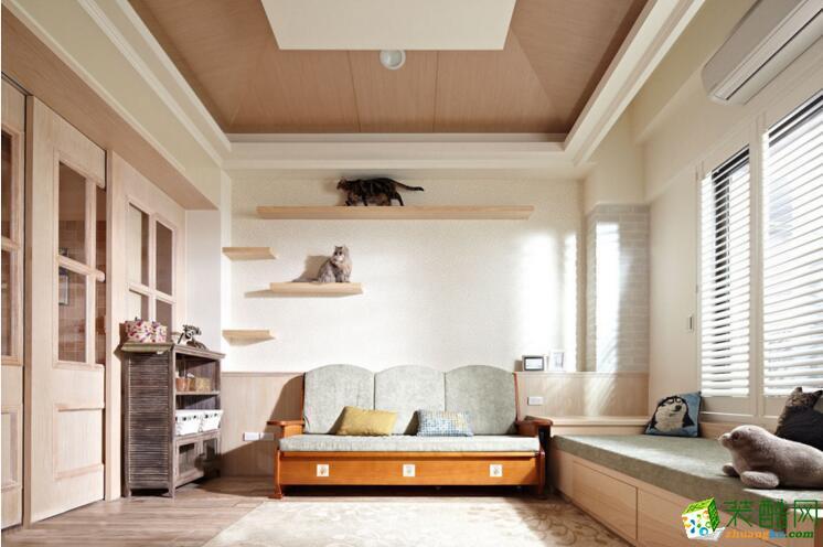 【乐居华庭装饰】127平米混搭风格三居室装修案例图
