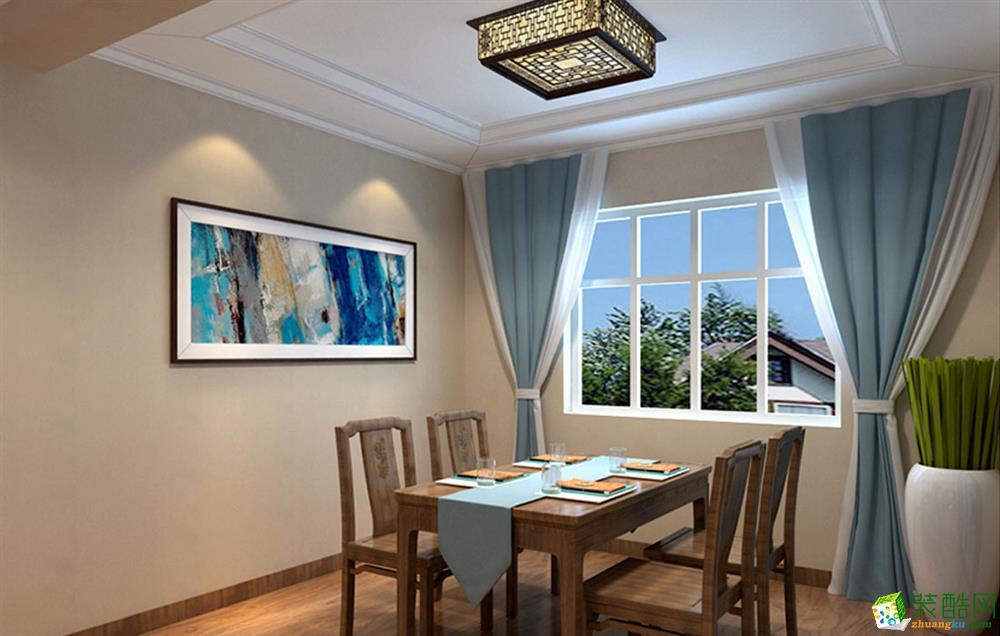 西安天地亿家装饰-新中式三居室装修效果图