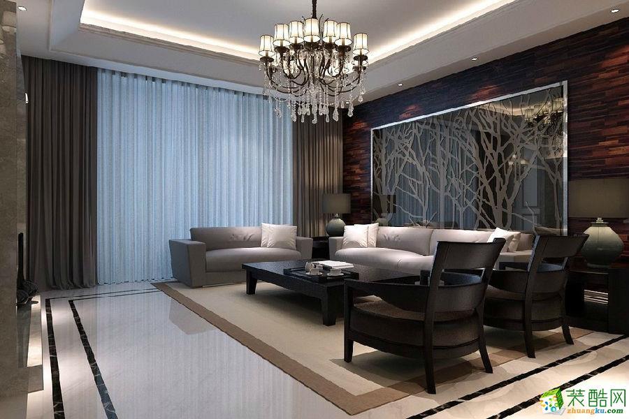 长沙洁宁装饰-润和紫郡现代四居室装修效果图