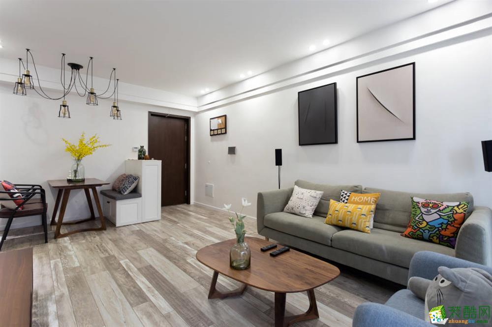 85㎡简约北欧风格家居www.w88982.com,原木家具保留了大自然原始的魅力,_北欧风格-三室一厅一卫