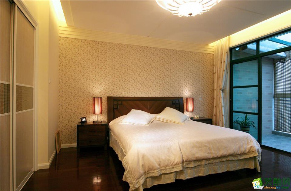 西安都市经典装饰-新中式三居室装修效果图