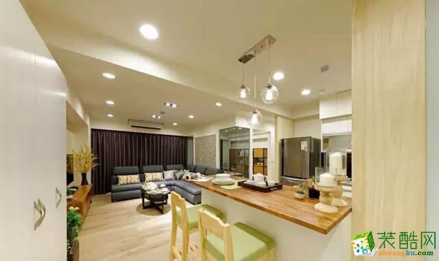 沈陽100平現代簡約三室 開放式廚房裝修